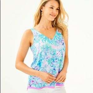 Lilly Pulitzer Florin Reversible V-Neck Tank Top